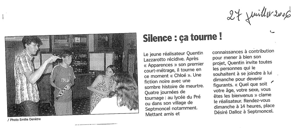 Silence : ça tourne !