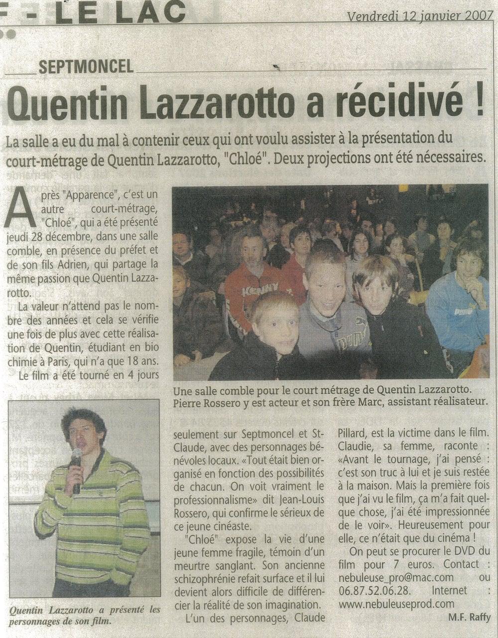 Quentin Lazzarotto a récidivé !