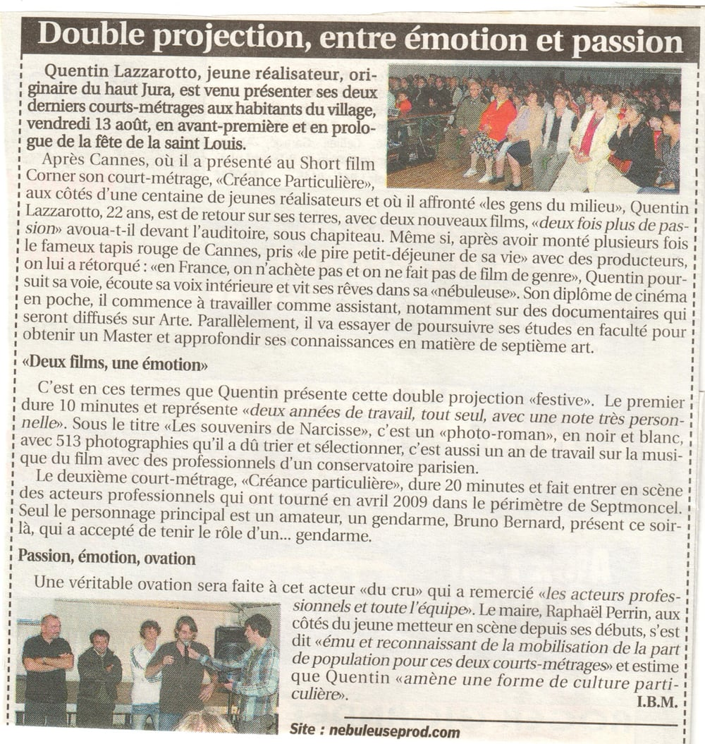 Double projection, entre émotion et passion