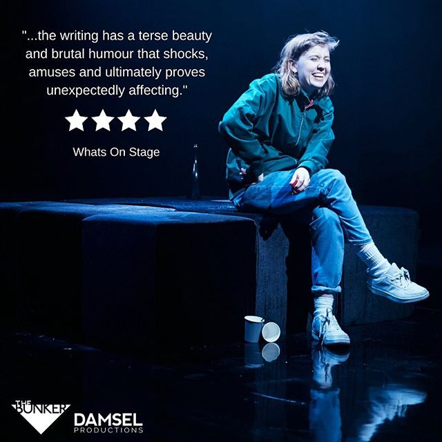"""TWO WEEKS LEFT to catch """"visionary"""" and """"impressive"""" GROTTY @bunkertheatreuk. Only on until 26th May. Ticket link in bio - book now to avoid disappointment. . . . . . . . . . . . #grotty #grottyplay #theatre #londontheatre #londonbridge #lgbt #lesbiantheatre #london #fringe #tickets"""