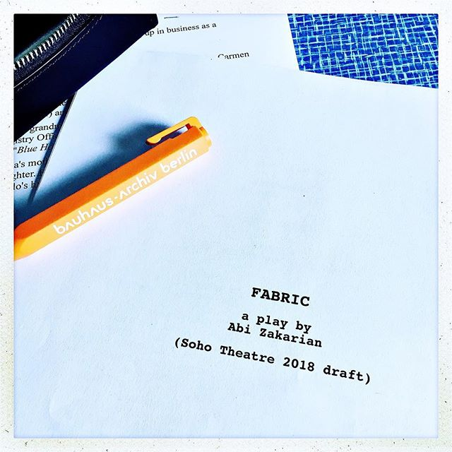 Nerves and excitement as rehearsals for Fabric start tomorrow. Coming to @sohotheatre on 11th September: a searing play that tears at the seams of society. #fabricdamsel #fabric #soho #theatre #rehearsals #fringe  #bankholiday