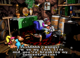 DKC3 on SNES had a cheeky plug for the upcoming N64