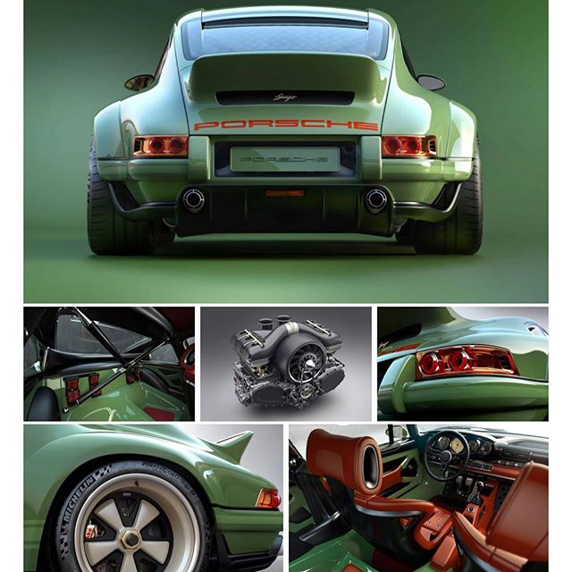 Dammmm, love iT 😍 #klassebak #carporn #porsche #singer #911 #loveit #500pk #gaserop #green