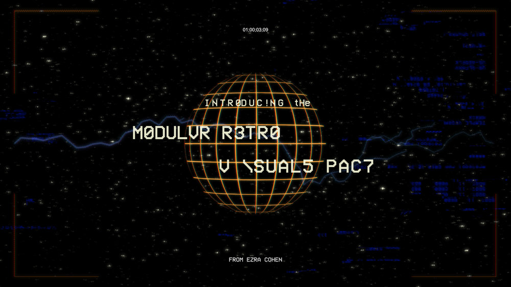 $49 - MODULAR RETRO ELEMENTS   33 retro-inspired looping elements and glitches. Modular design allows for endless combinations. Easily customize colors and combinations! Adobe Premiere project included.   Available in HD and 4K!