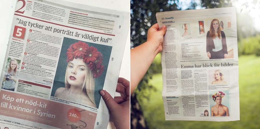 """För utställningen """"Blomster"""",Kungsbacka-Posten och Norra Halland, juni 2015"""