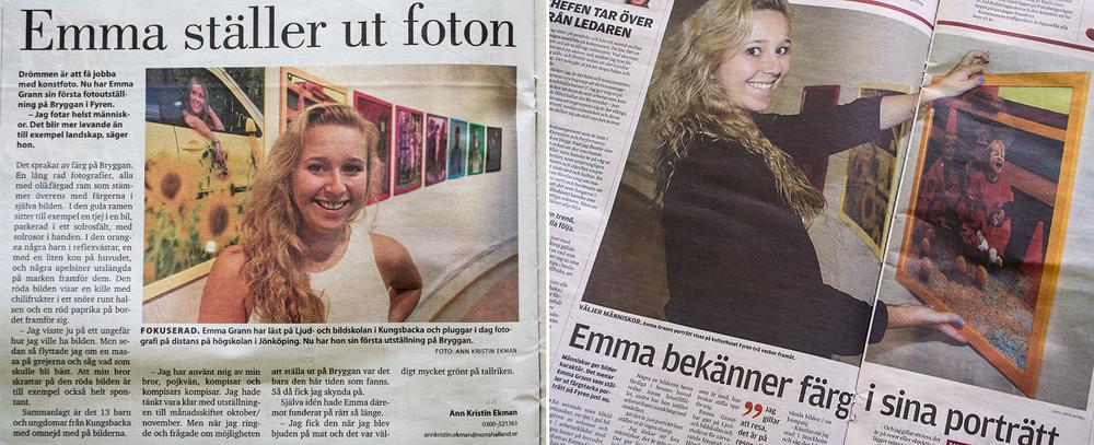 """För utställningen """"Färger"""", Norra Halland och Kungsbacka-Posten, november 2013"""