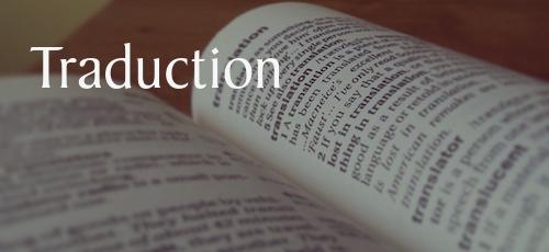 à partir de 0,15 € / mot - Anglais-FrançaisÉtablissement d'un devis de traduction séparéTraduction du contenu de votre site et de vos différents supports de communicationRéalisation de sites bilinguesMise en relation avec d'autres traducteurs pour d'autres paires de langues