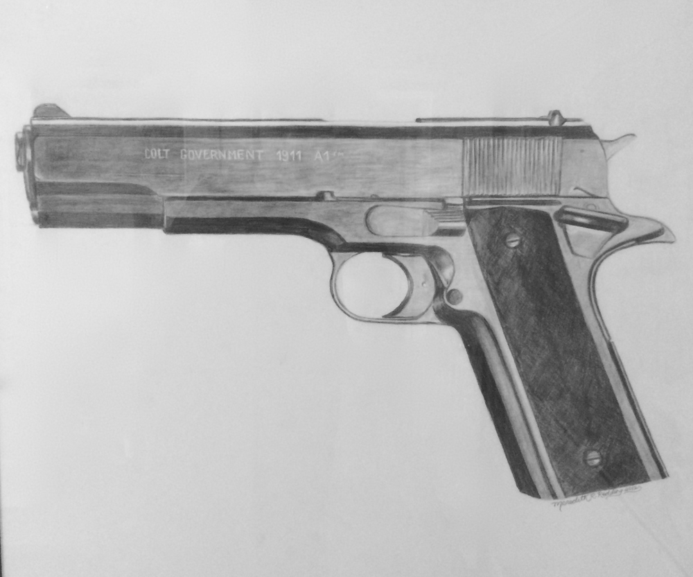 Kenny's Colt | Ebony Pencil on Paper