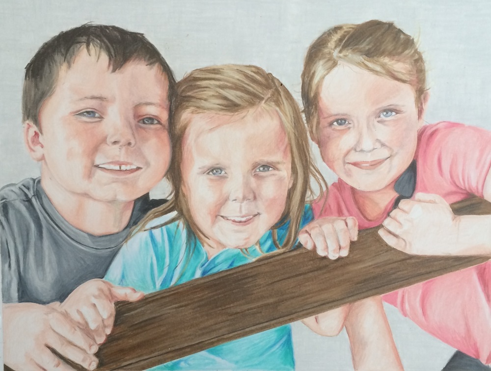 The Anders Family | Colored Pencil on Bristol Paper