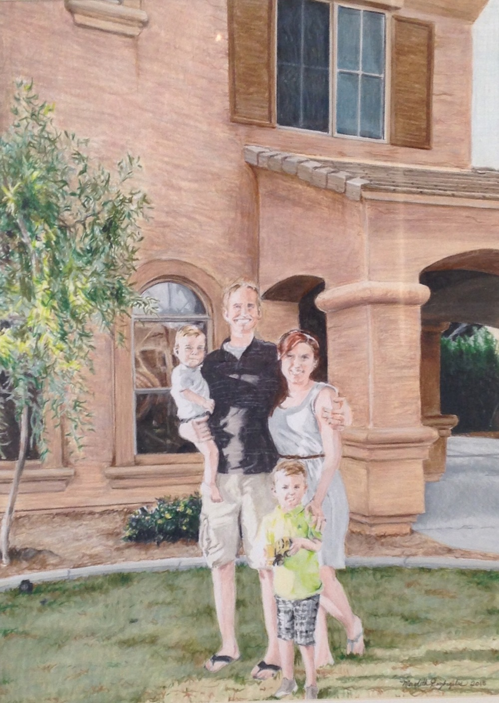 The Brotherton's New House | Colored Pencil on Bristol Paper