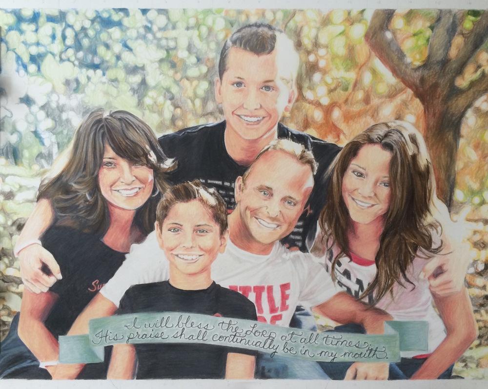 The Miller Family Portrait | Colored Pencil on Bristol Paper