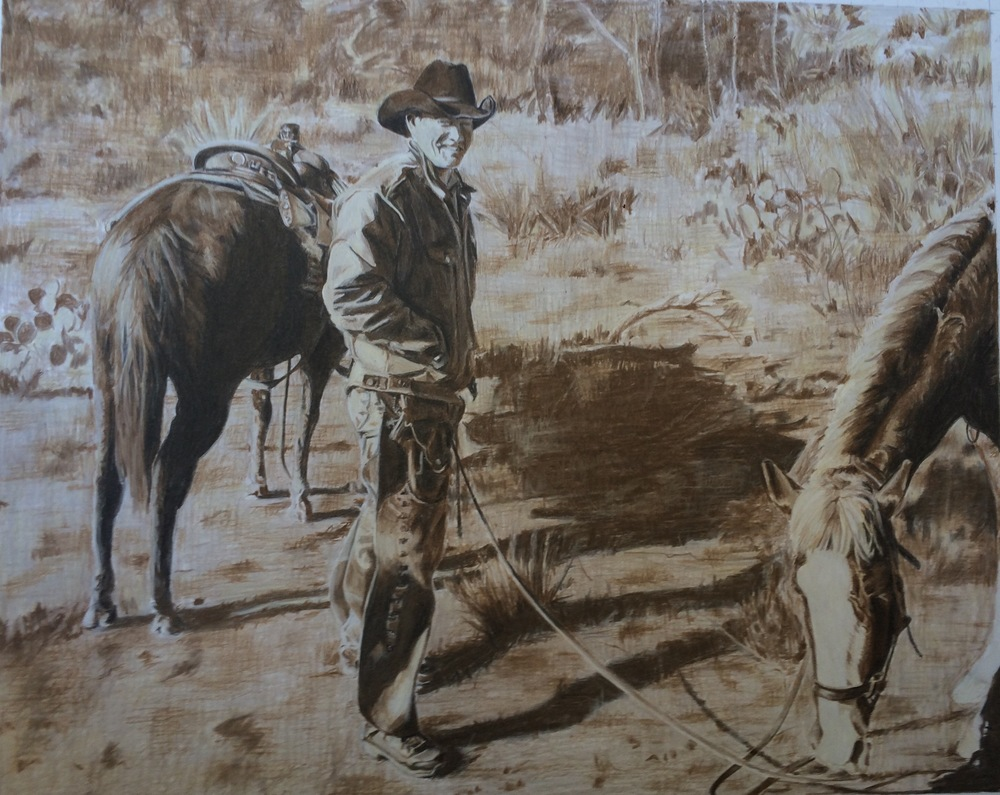 Steve at the Ranch | Colored Pencil on Bristol Paper
