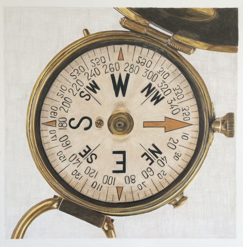Wyatt's Compass | Colored Pencil on Bristol Paper