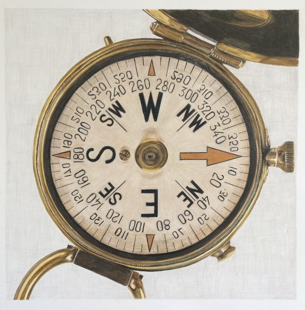 Wyatt's Compass | Colored Pencil on Bristol Paper
