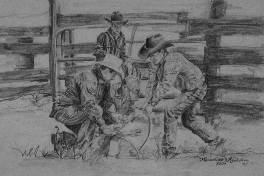 Ranch Life | Ebony Pencil on Paper
