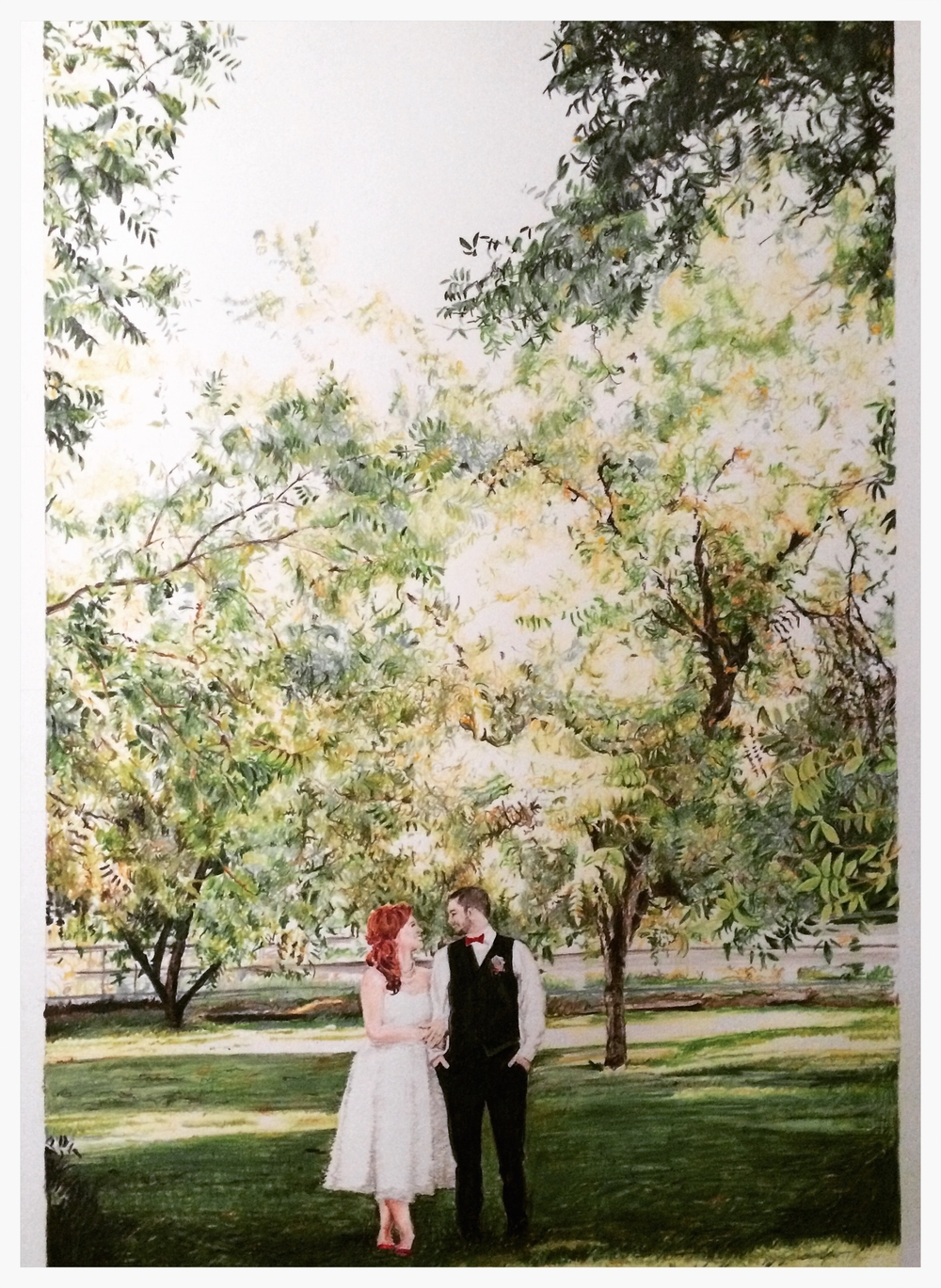 Our Wedding Day | Colored Pencil on Bristol Paper
