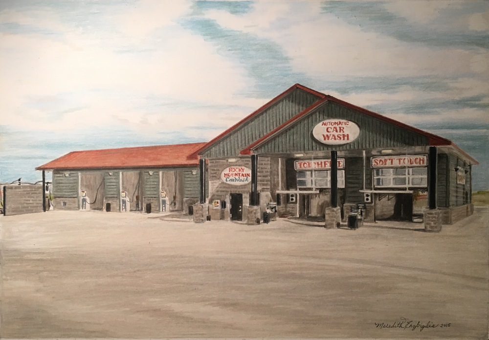 The Car Wash | Colored Pencil on Bristol Paper