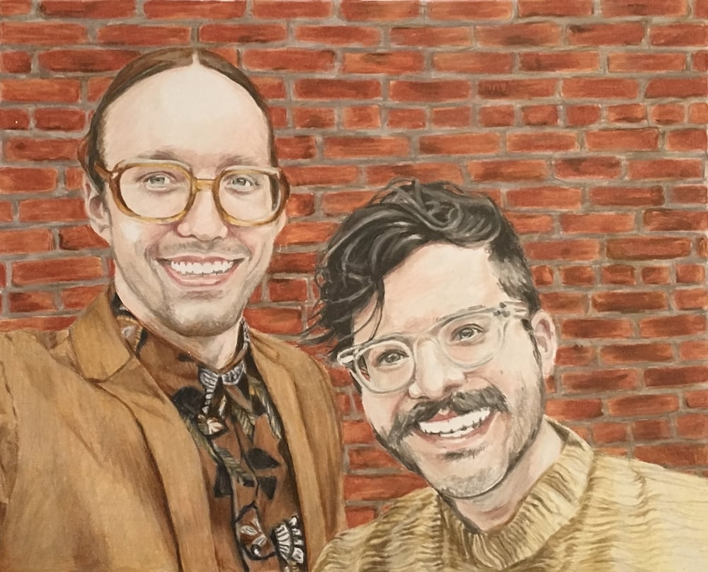 Portrait of Josh & Travis | Colored Pencil on Bristol Paper