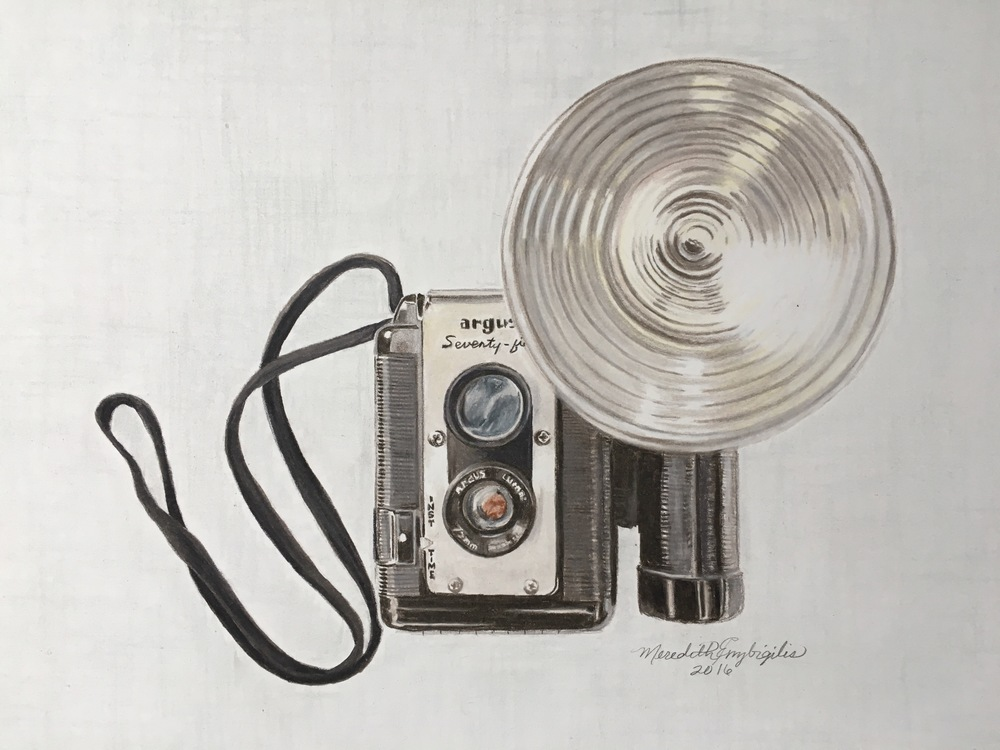 Mom's Lil' Camera | Colored Pencil on Bristol