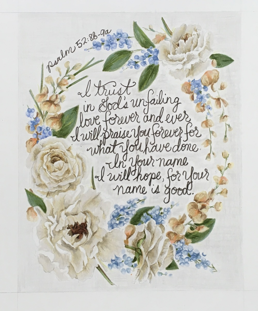 Jess's Wedding Flowers | Colored Pencil on Bristol