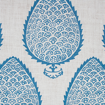 Fabric: Leaf in color Blue