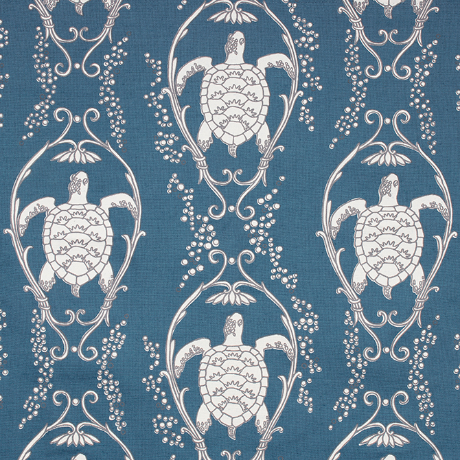Fabric: Turtle Bay in color Prussian Blue