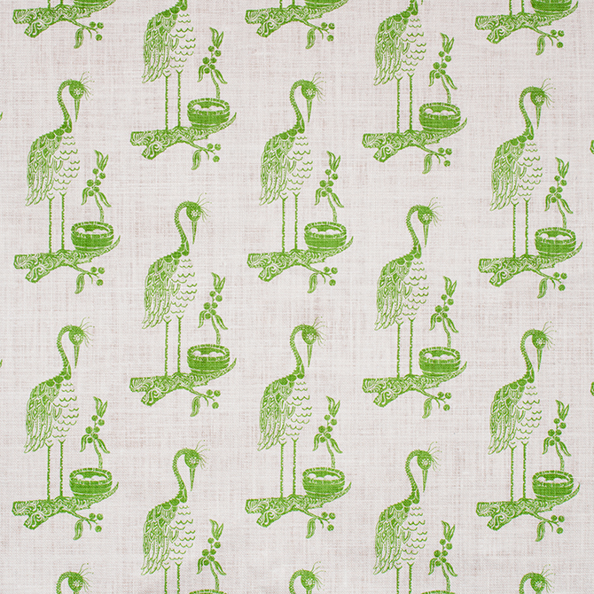 Fabric: Crane in color Grass