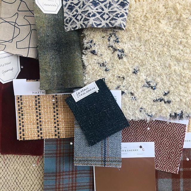Another bachelor pad in the works... Masculine equivalent of hand painted floral wallpaper? IMO, a handsome plaid #madforplaid