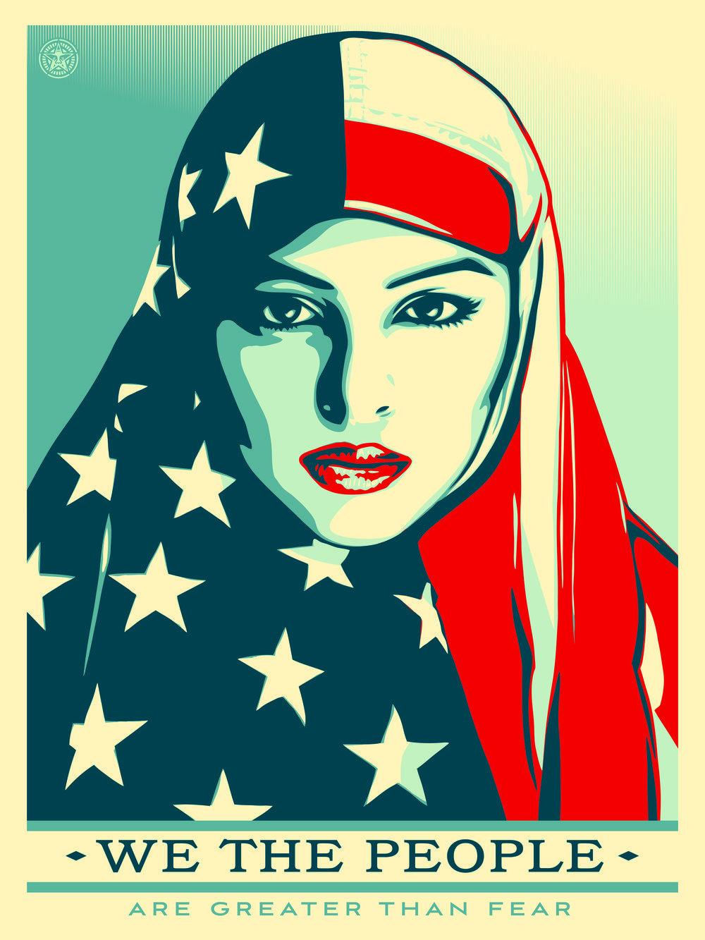 Shepard Fairey's We The People poster. Click on image for link to download it yourself (it's free!).