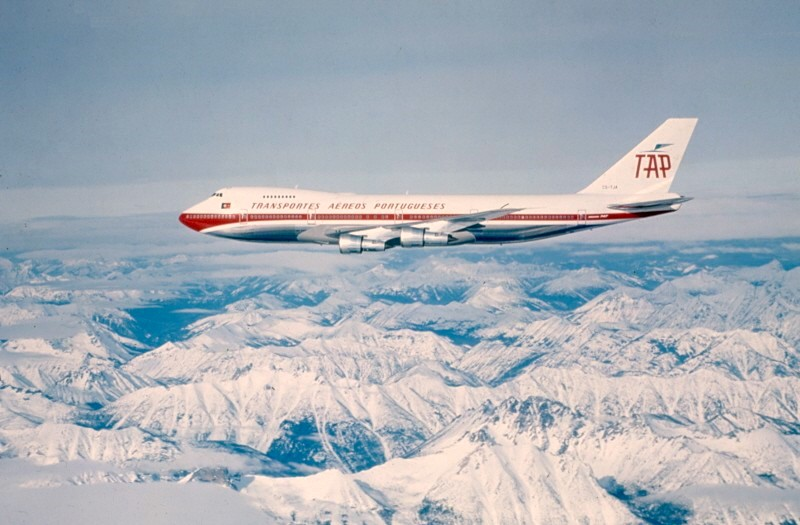 Um Boeing 747 da TAP Portugal (autor desconhecido)