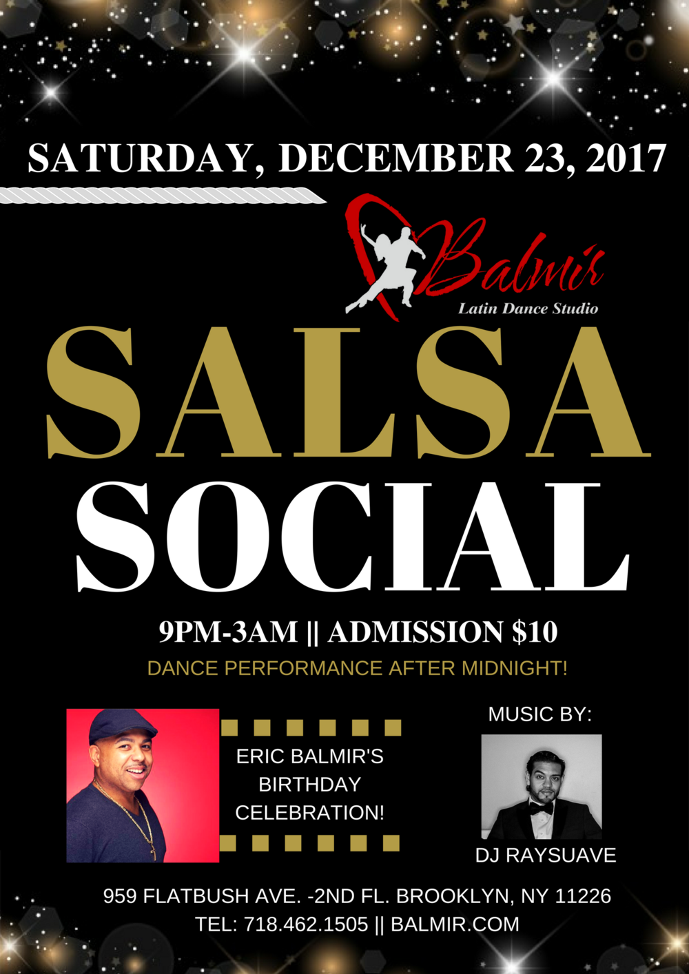 Salsa Party In Brooklyn Saturday, December 23, 2017