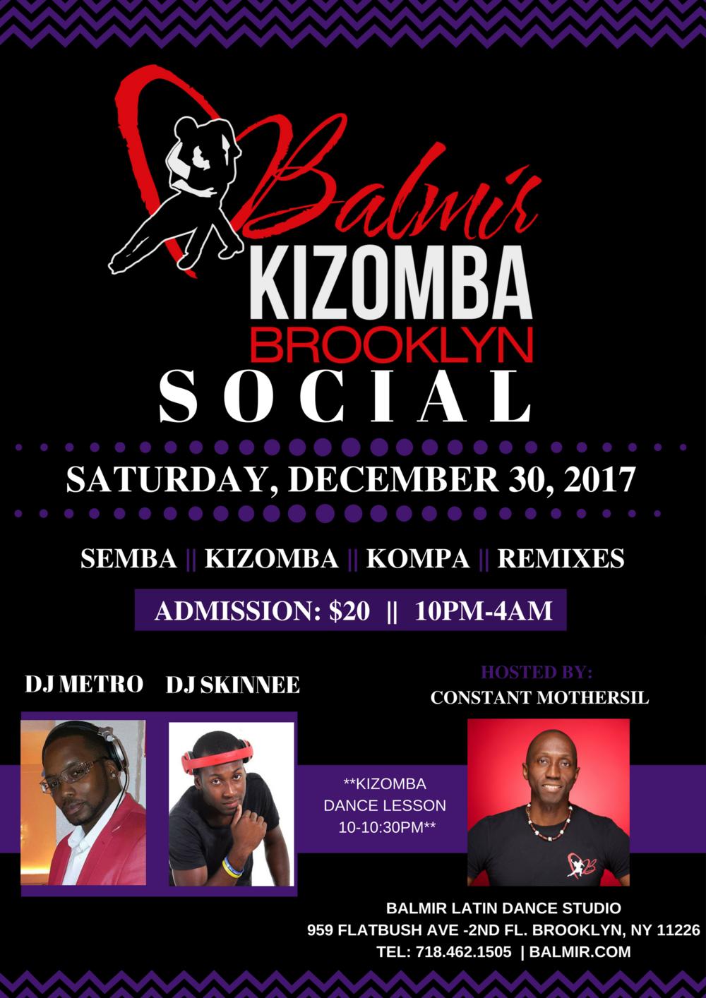 Kizomba Dance Party DEC 30 FLYER BALMIR