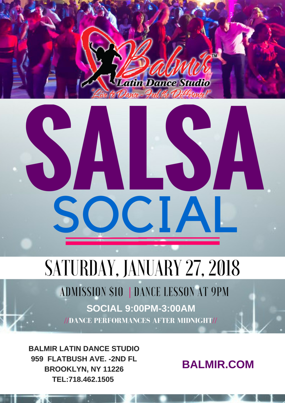 SALSA SOCIAL BROOKLYN NYC DANCE PARTY