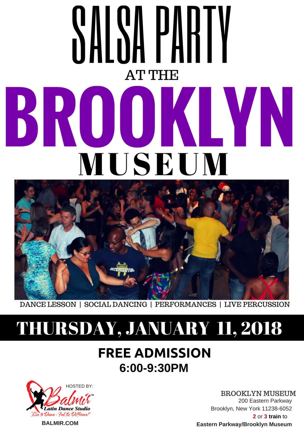 SALSA DANCE PARTY AT BROOKLYN MUSEUM BALMIR.COM JANUARY  2018