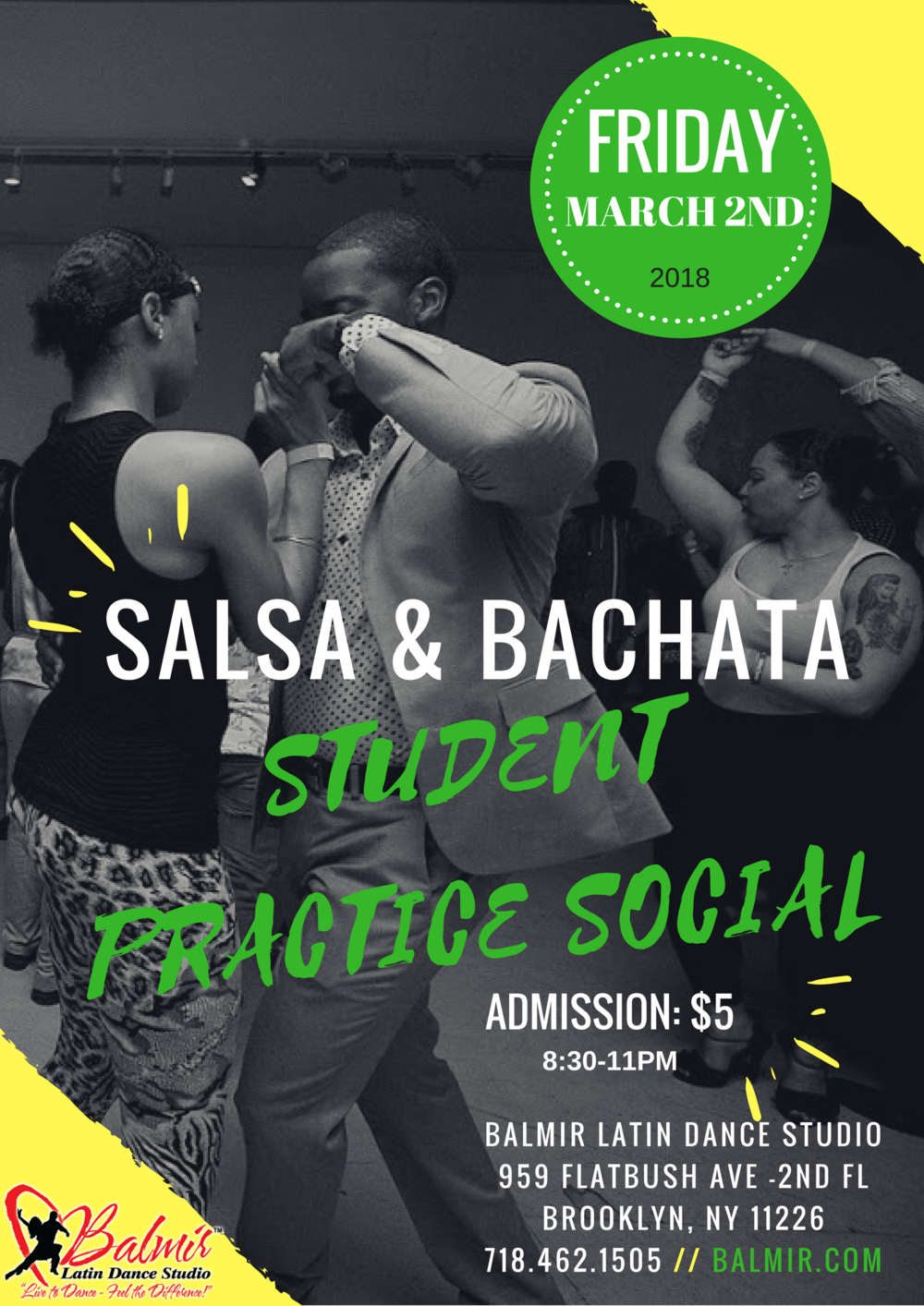 march 2018 student practice social at Balmir Latin Dance Studio