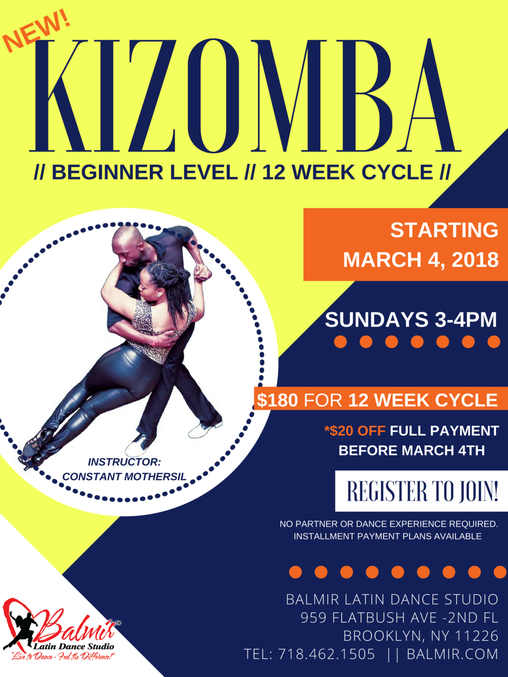 Kizomba Beginner Dance Classes in Brooklyn