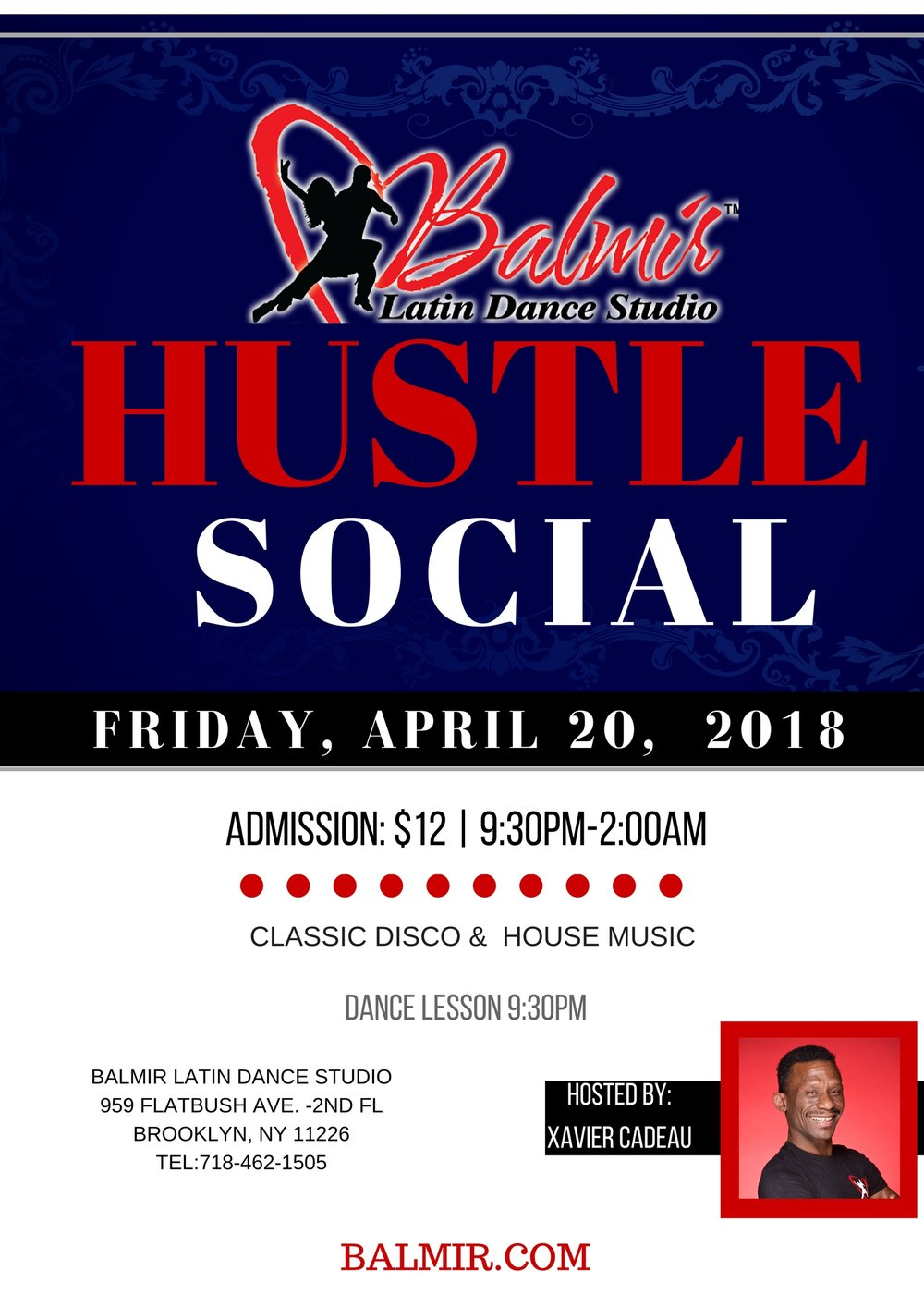 HUSTLE APRIL 2018 Dance Social in Brooklyn, NY at Balmir Latin Dance Studio