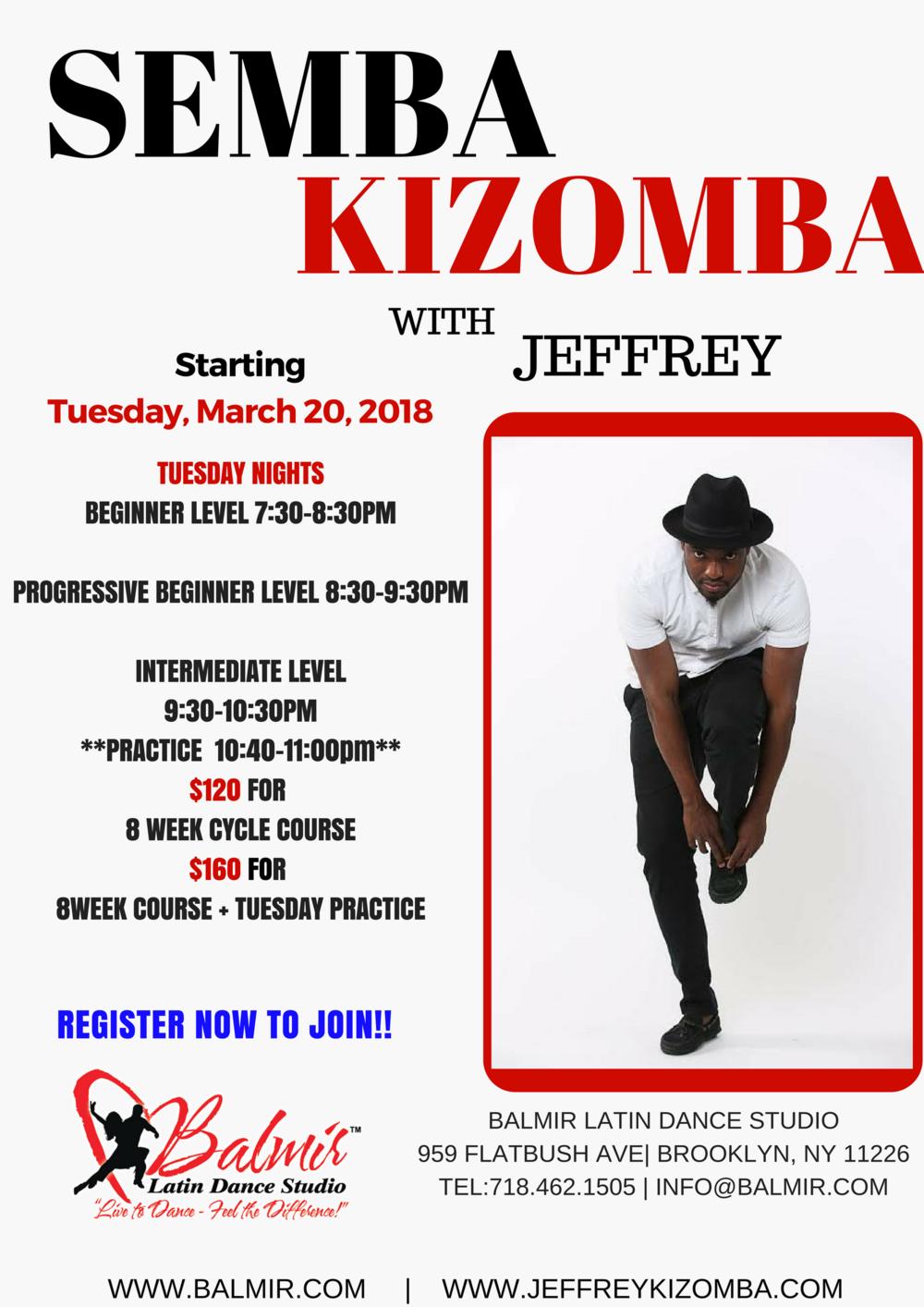 SEMBA KIZOMBA Dance Classes March 2018 in Brooklyn, NY