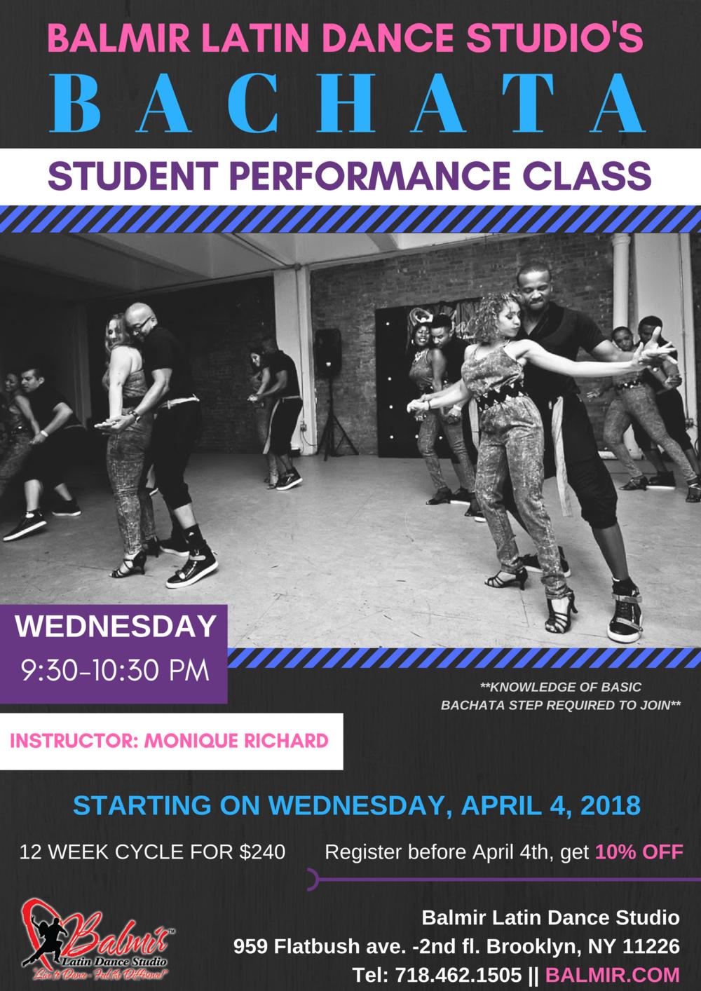 april balmir bachata performance class Brooklyn BalmirLatin Dance Studio