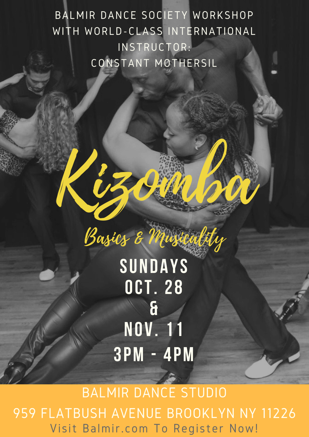 Kizomba Workshop Balmir Brooklyn Dance School Dance Lessons Classes NYC