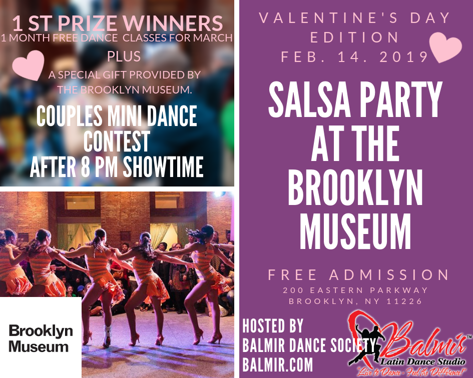 Brooklyn Museum Event Free Salsa Party Feb 14 2019 Valentine's Day Event.png