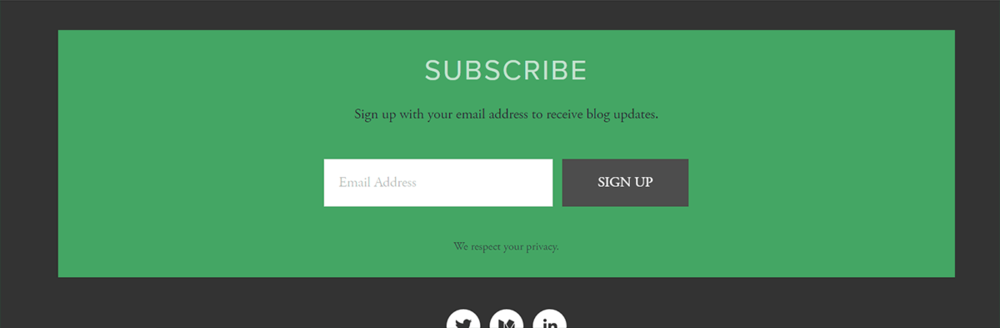 Opt-In Email Subscription Form for Lynnlangmade.com