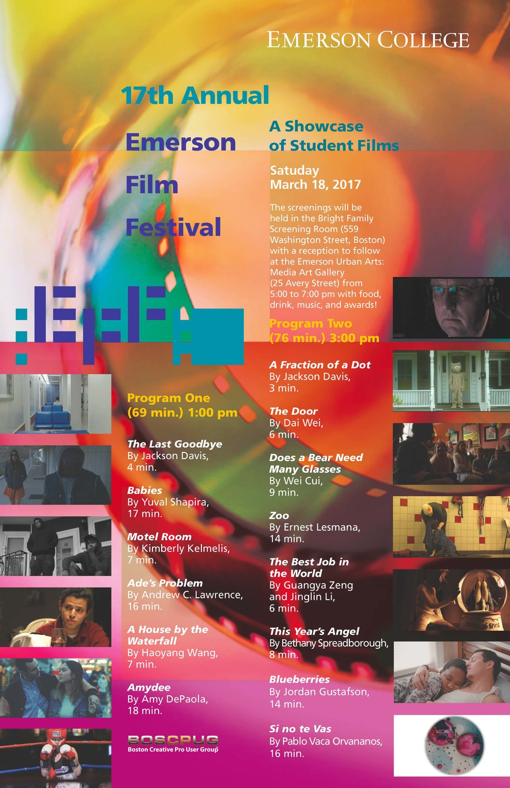 OFFICIAL SELECTION - AMYDEE is an OFFICIAL SELECTION of the 17th Annual Emerson Film Festival, A Showcase of Student Films.AMYDEE was produced to satisfy the requirements of the Master of Fine Arts degree at Emerson College.
