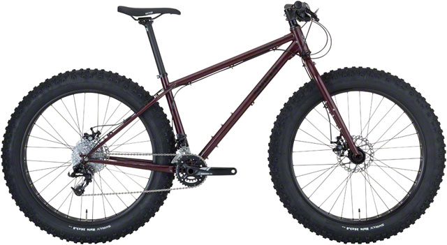 "Surly Wednesday   The Wednesday is Surly's all-terrain fatbike. The frame features trail-ready geometry, 4.6"" of tire clearance, provides lots of cargo carrying capabilities and is paired with a 100mm suspension corrected fork."