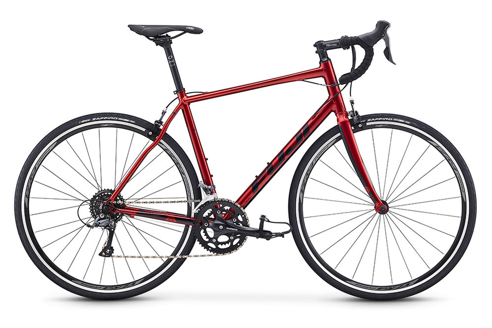 Fuji Sportif 2.3   A longer wheelbase and taller headtube position the rider efficiently to reduce arm fatigue and back strain while on the road; making the Sportif the perfect bike for local group rides, long centuries or you next charity ride