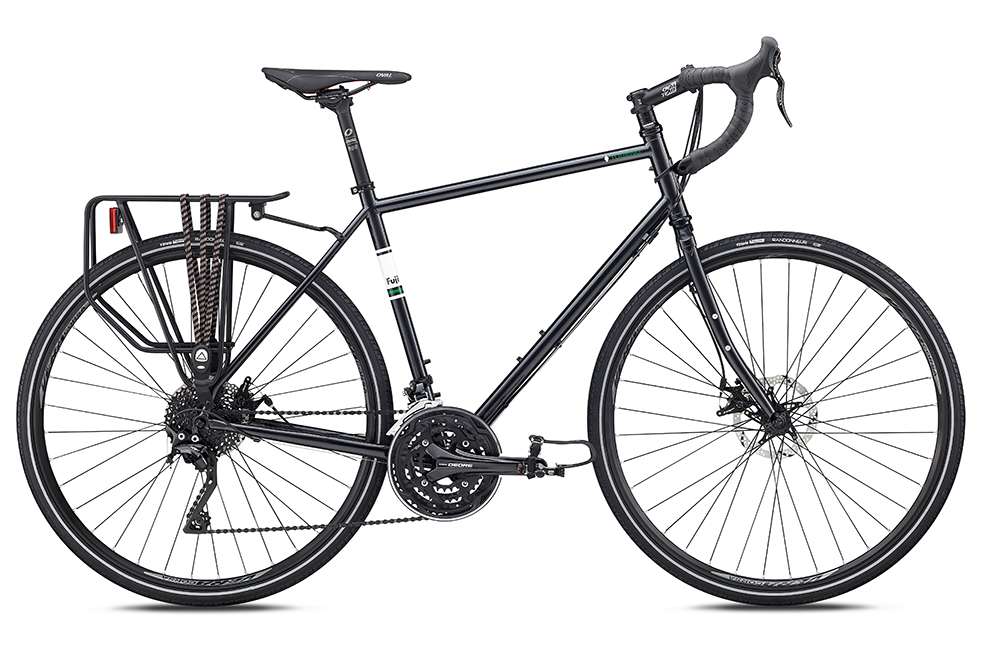 Fuji Touring Disc   Its geometry is perfect for multiple long days in the saddle carrying a heavy load to your destination. If you're looking for a reliable and comfortable workhorse of a bike that can take you cross country, across your state or across town the Touring is the bike for you.