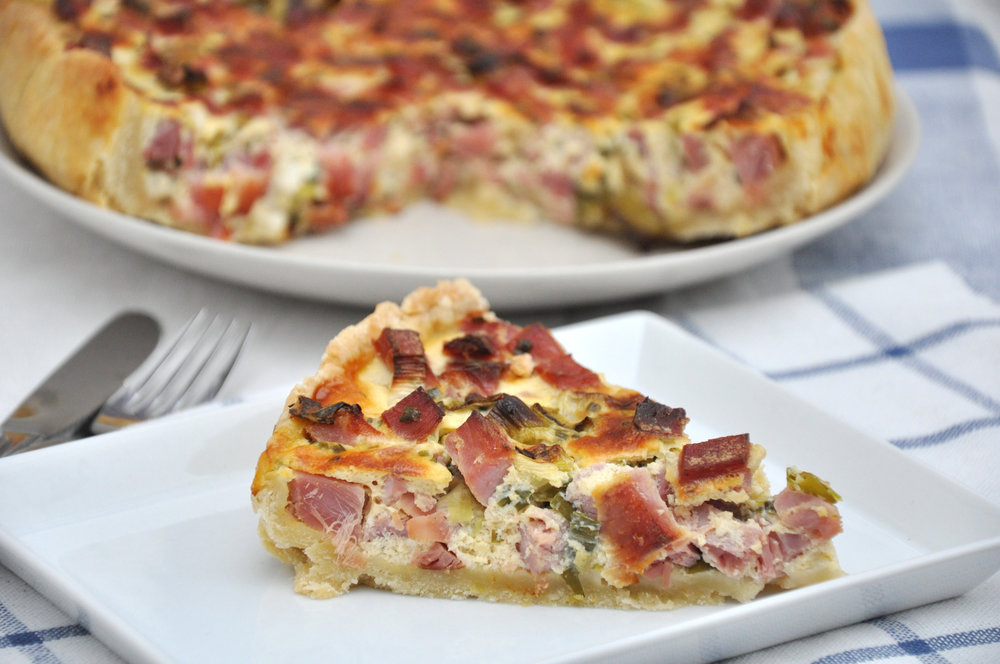Quiche (bacon, onion, leek and cheese)