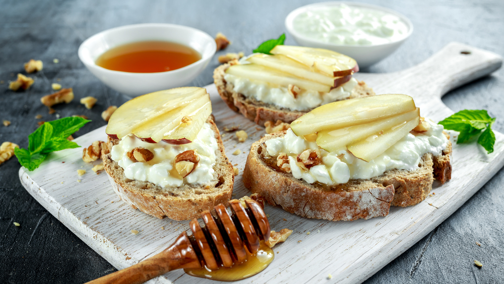 COMING SOON - Pear and Goat Cheese Bruschetta