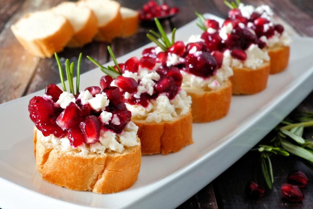 COMING SOON - Pomegranate Bruschetta