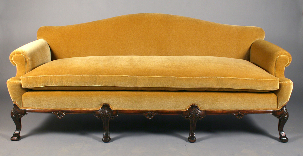 Reupholstered sofa
